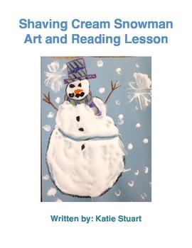 Shaving Cream Snowman Art and Reading Lesson