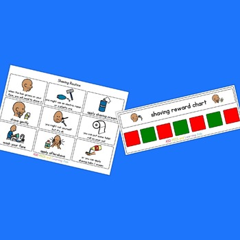 Shaving Visual Routine Pack - Boardmaker Visual Aids for Autism