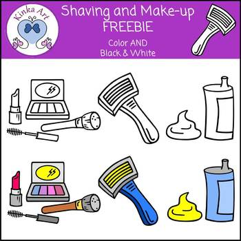 Shaving and Make-up Freebie Clip Art