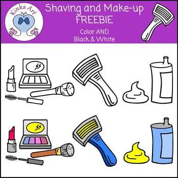 Shaving and Make-up Freebie Clip Art