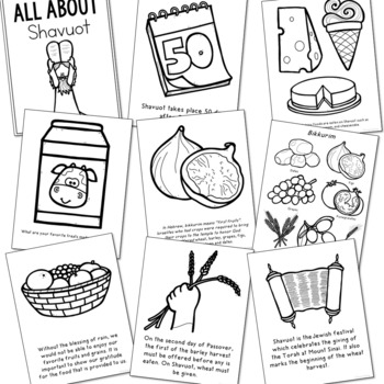 shavuot coloring pages and poster set jewish holiday easy craft