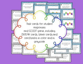 Shavuot SCOOT Task Cards, Posters, Game and Mini Journal