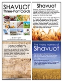 Shavuot Shavuos Jewish Holiday Montessori Three-Part Cards