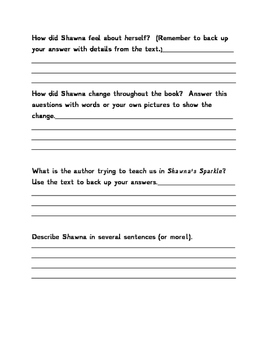 Shawna's Sparkle Comprehension Activity