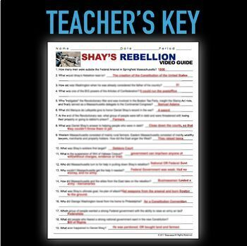 Shay S Rebellion Video And Video Guide American Revolution Tpt