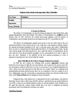 shay s rebellion worksheet by tony tsai teachers pay teachers shay s rebellion worksheet