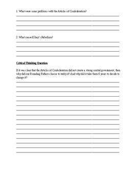 Shay's Rebellion Worksheet