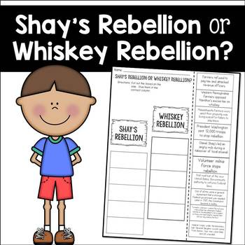 Shay's Rebellion or Whiskey Rebellion? Cut and Paste Sorti
