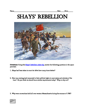 Shays' Rebellion Webquest and Video Clip