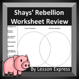 Shays' Rebellion and Whiskey Rebellion Review Worksheet