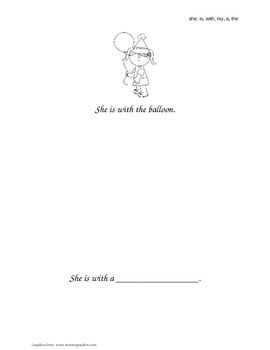 """""""She, Is, With, My, A, The"""" Sight Word Books"""