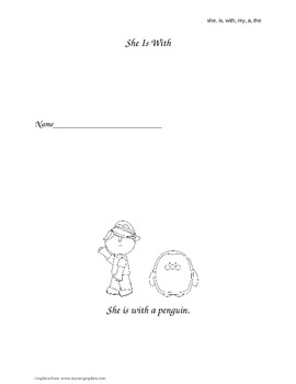 """She, Is, With, My, A, The"" Sight Word Books"