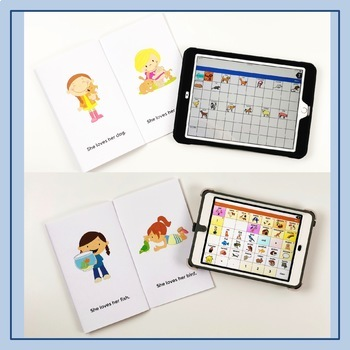 She Loves Her Pet - Easy Readers for AAC Core Words