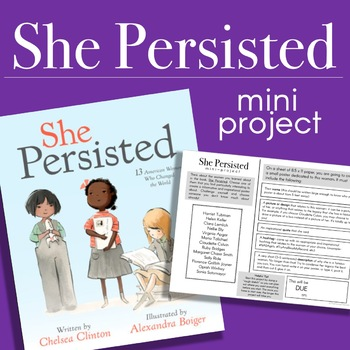 She Persisted Mini-Project - Great for Women's History Month!