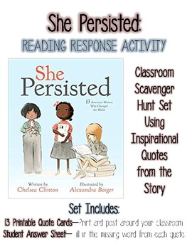 She Persisted: Reading Response Activity for Women's History Month