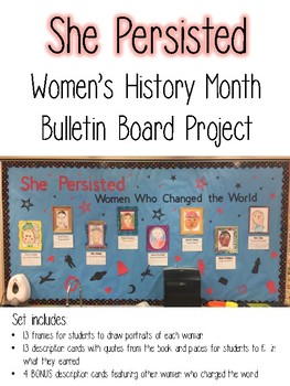 She Persisted--Women's History Month Bulletin Board Set