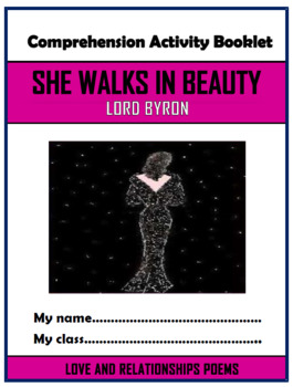 She Walks in Beauty Comprehension Activities Booklet!