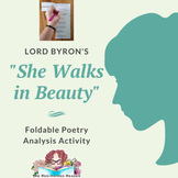 She Walks in Beauty by Lord Byron Foldable Poetry Analysis