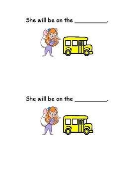 She Will Be - Fill in the blank sight word reader activity - Guided Reading