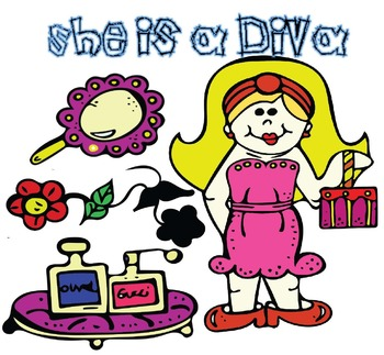 She is a Diva Clip art