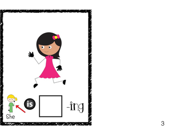 She is -ing: Interactive book