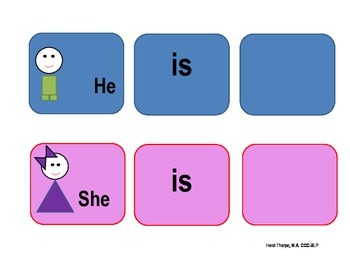 She is/He is graphic organizer