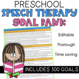 SLP Goal Bank for Speech Therapy with 345 Goals: Ages 1-6.