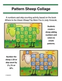 Sheep Collage - Where Is the Green Sheep? Craft, Skip Counting, Patterns