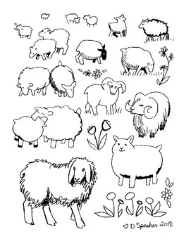 Sheep Coloring Page By Mrsspeaker Teachers Pay Teachers