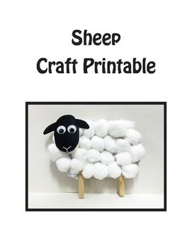 Sheep Craft, Lamb Craft, Mary Had A Little Lamb Craft Printable