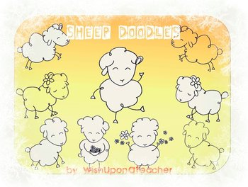 Sheep Doodles Clip Art
