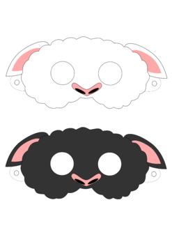 Sheep Mask Printable Black Marys Little Lamb Bo Peep