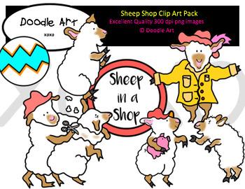 Sheep Shop Clipart Pack