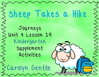 Sheep Take a Hike Journeys Unit 4 Lesson 19 Kindergarten Supp. Act.