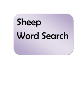 Sheep Word Search