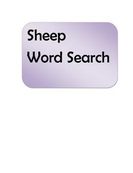 Sheep Word Search