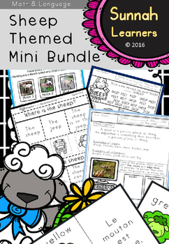 Sheep activity mini bundle set- mixed age groups