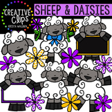 Sheep and Daisies {Creative Clips Digital Clipart}