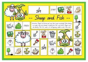 Sheep and Fish Sh Sound Board Game