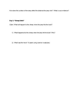 Sheep in Jeep Lab Worksheet
