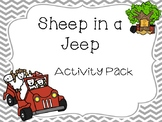 Sheep in a Jeep Activity Pack