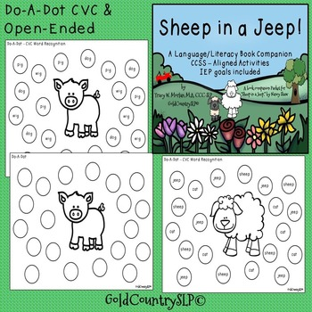Sheep in a Jeep - A Language/Literacy Book Companion #SPRINGSAVINGS