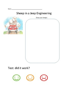 Sheep in a Jeep Engineering Half-Sheet, simple machines