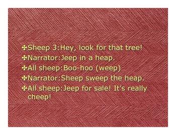 English- Sheep in a Jeep Reader's Theatre Script