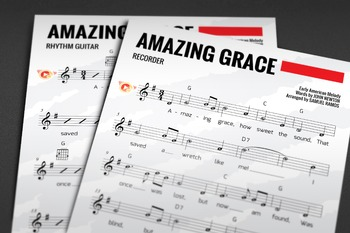Recorder Sheet Music: Amazing Grace (Hymn)
