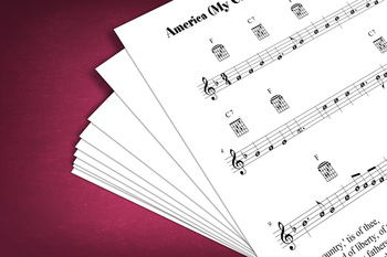 Sheet Music: America (My Country, 'Tis of Thee)