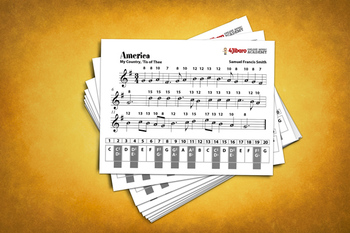 Sheet Music: America (My Country, 'Tis of Thee) - Keyboard