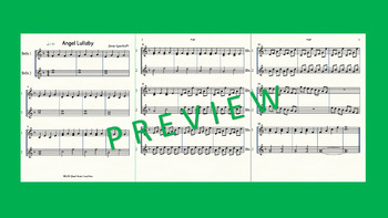 Sheet Music-Angel Lullaby-Bells Duet with WAV Guide
