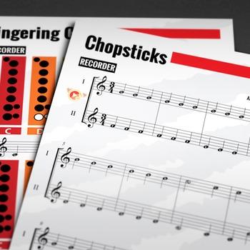 Recorder Sheet Music Chopsticks The Celebrated Chop Waltz