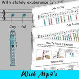 Recorder Sheet Music - Ode To Joy